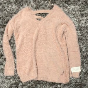 Super Soft Fuzzy Pink Sweater